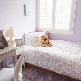 90平米地中海风格温馨浪漫紫色儿童房装修效果图