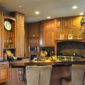 混搭风格别墅简洁原木色富裕型卧室吧台灯具海外家居效果图