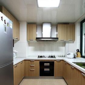 简约风格三居室简洁原木色富裕型厨房灯具图片效果图