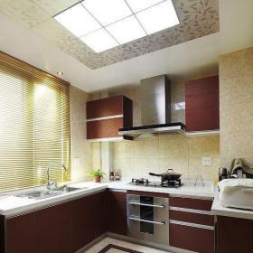 欧式风格简约风格三居室原木色15-20万厨房灯具效果图