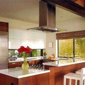 91-120平米宜家风格三居室原木色温馨厨房装修效果图