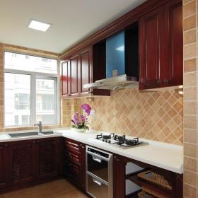 简约风格新古典风格公寓原木色富裕型厨房橱柜订做效果图