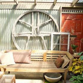 小清新原木色木质阳台好乘凉效果图
