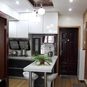 简约风格二居室原木色富裕型40平米吧台吧台椅图片效果图