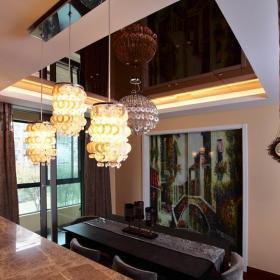 宜家风格二居室稳重原木色豪华型吧台马赛克图片效果图