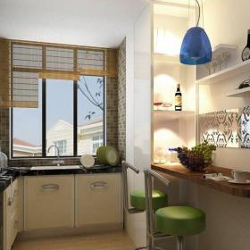 混搭原木色混搭风格122平三居室原木色吧台装修效果图