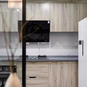 128㎡简约新中式三居之厨房橱柜设计效果图