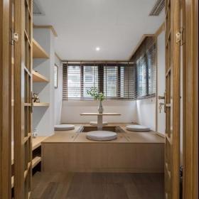 160平新中式三居之茶室茶桌设计效果图