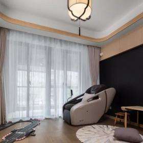 160平新中式三居之休闲室装修布置效果图
