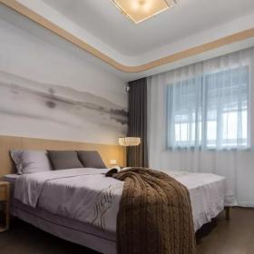 160平新中式三居之次卧装修布置效果图