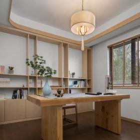 160平新中式三居之书房设计效果图