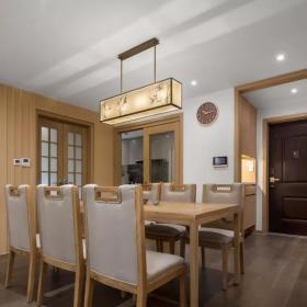 160平新中式三居之餐厅布置效果图