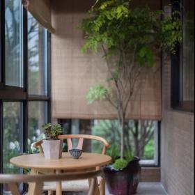 160平新中式三居之休闲阳台布置效果图