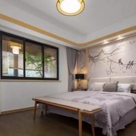 160平新中式三居之主卧装修布置效果图
